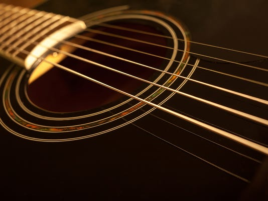 acoustic guitar close-up shot