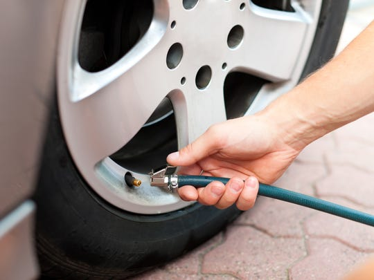 Check you tires before heading out on a road trip.