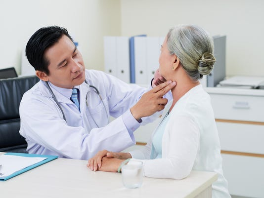 Checking thyroid glands