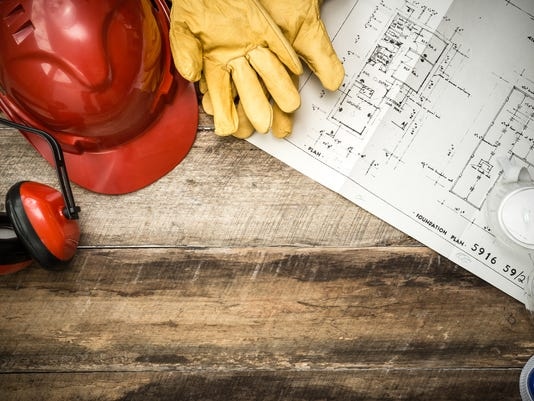 Protective Workwear Constriction Background