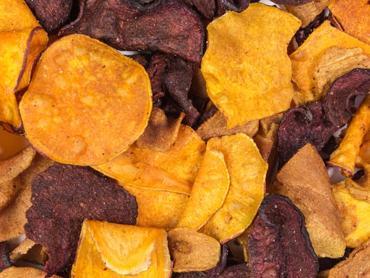 Veggie chips can be high in salt and fat.