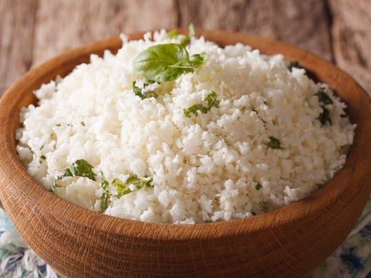 Cauliflower rice can give a dish a nice base.