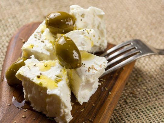 Feta cheese has 75 calories and 4 grams of protein per ounce.
