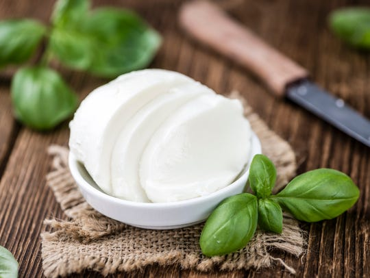 Fresh mozzarella has just 70 calories an ounce and