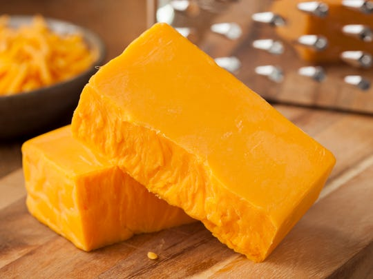 Sharp cheddar has 110 calories and 7 grams of protein