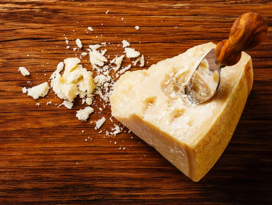 Parmesan has some serious protein. It packs 10 grams