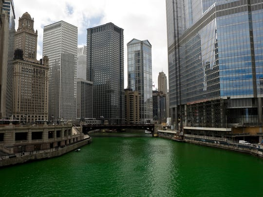 Dyeing the river green is an annual tradition in Chicago