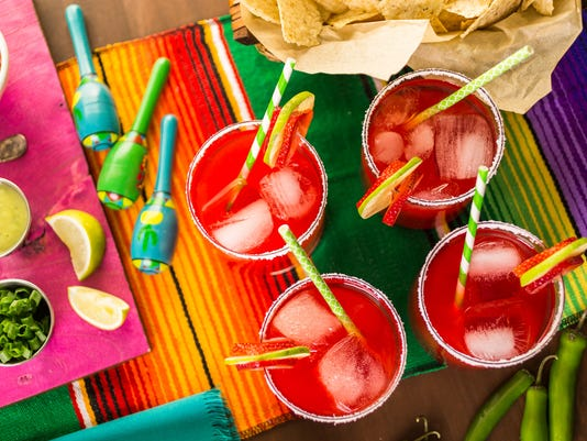 Strawberry and lime margaritas
