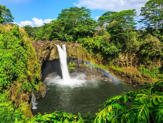 Hawaii, Rainbow Falls in Hilo.