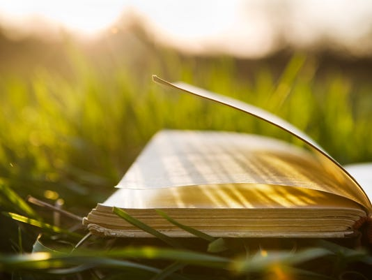 Summer backgound with open book