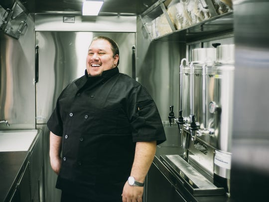 John LoCascio is the chef at The Stuf'd Truck, which