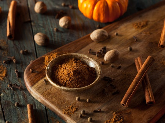 To make spiced syrup, use cinnamon, nutmeg, clove, cardamom, mace, ginger, etc. -- a big pinch of each, but whole spices only.