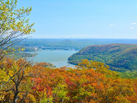 Overlook at bear mountain state park, New York USA.