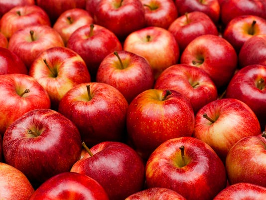 Close-up of red royal gala apples
