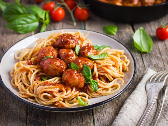Spaghetti with meatballs is among the most common items on Treasure Coast kids menus.