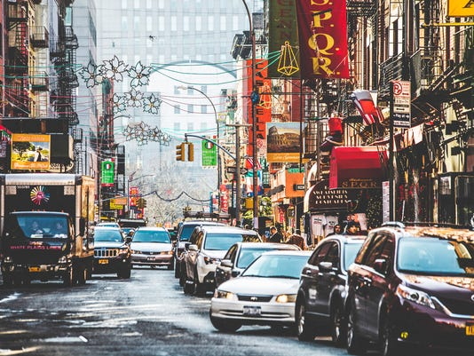 Streets of Little Italy in New York