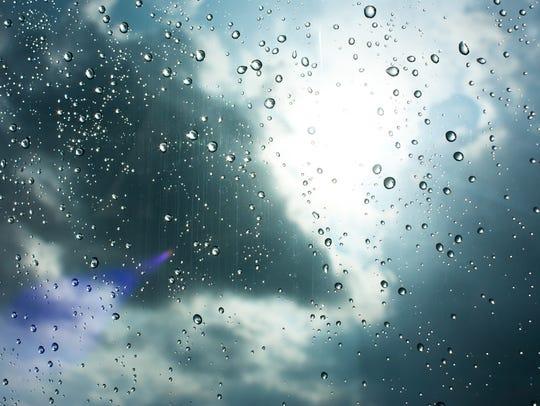 Drops of rain on glass , rain drops on clear window