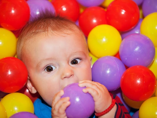 Fun in the ball pool indoor playground