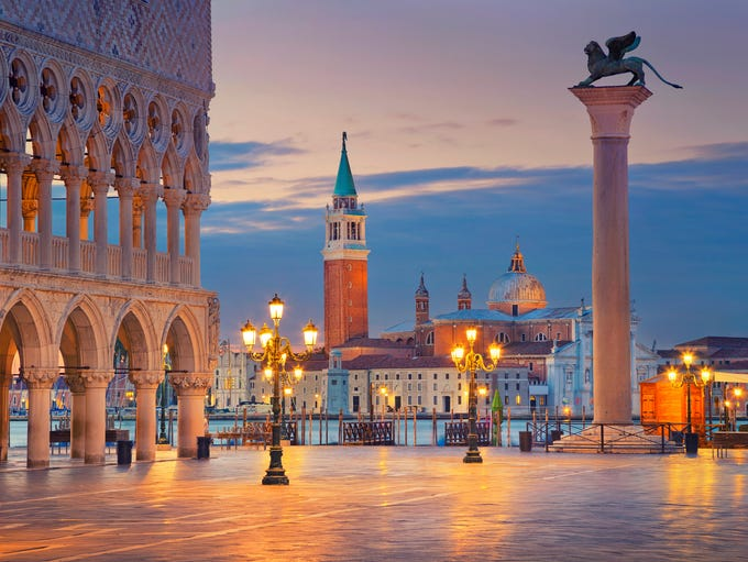 Piazza San Marco in Venice, Italy.