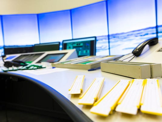 Air Traffic Services Authority controller's desk