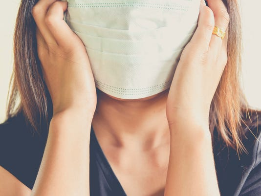 women wearing hygienic mask