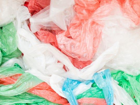 Pile of plastic bags.