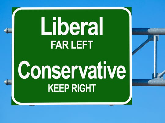 Liberal Conservative Highway sign.