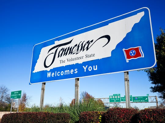 Tennessee borders eight other states, tied for most in the nation.