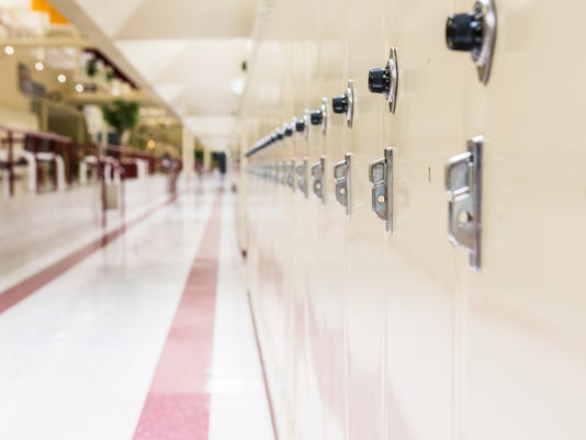 Row of school lockers