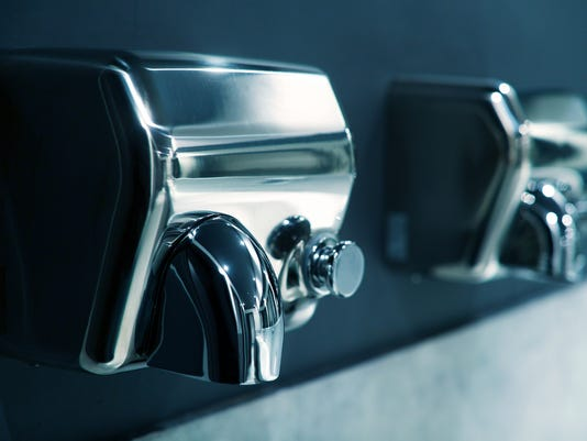 Hand Dryer Study Shows They Blow Hands With Bathroom Fecal Bacteria - Bathroom hand dryer germs