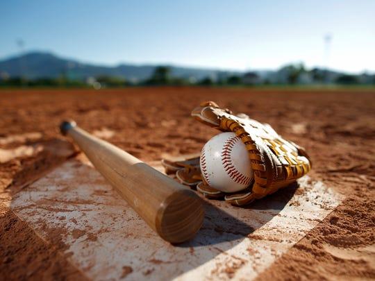 Baseball and glove,
