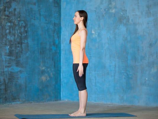Beginning of yoga workout