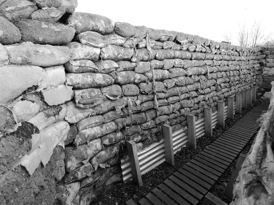 Yorkshire Trench and Dug Out World War I Trenches in