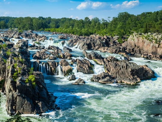 """Great Falls of the Potomac late afternoon,I invite"