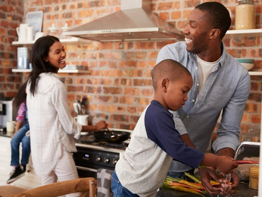 Make healthy home-cooked meals together.