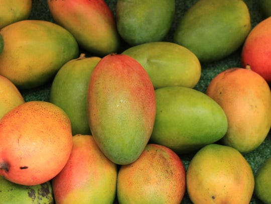 Fresh mangoes are a summer treat.