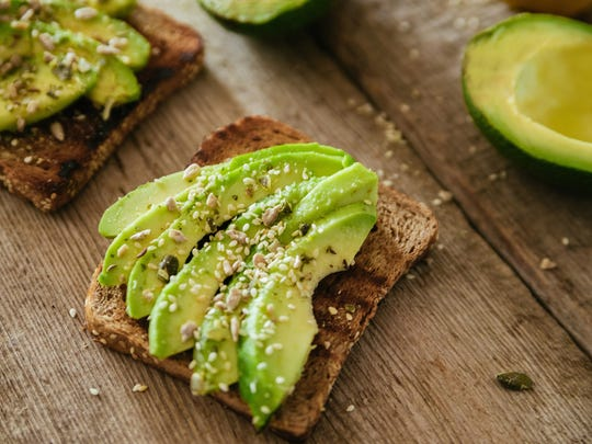 Avocados make a great toast topping for breakfast or lunch.