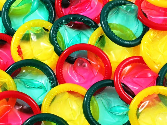Colored Condoms Close Up
