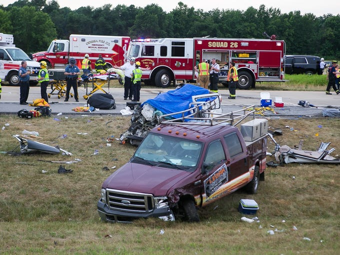 Crews are at the scene of a multiple-fatalities crash