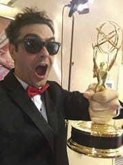 Weston Green and his Emmy.