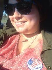 #VoterSelfie of reporter Laura Peters