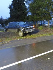 A Woodburn woman died Nov. 15 after her taxi was rear-ended by this pickup, police said.