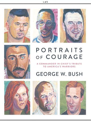 """""""Portraits of Courage: A Commander in Chief's Tribute to America's Warriors"""" features pictures of portraits painted by former President George W. Bush."""