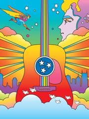 """Cosmic Music City"" by Peter Max"