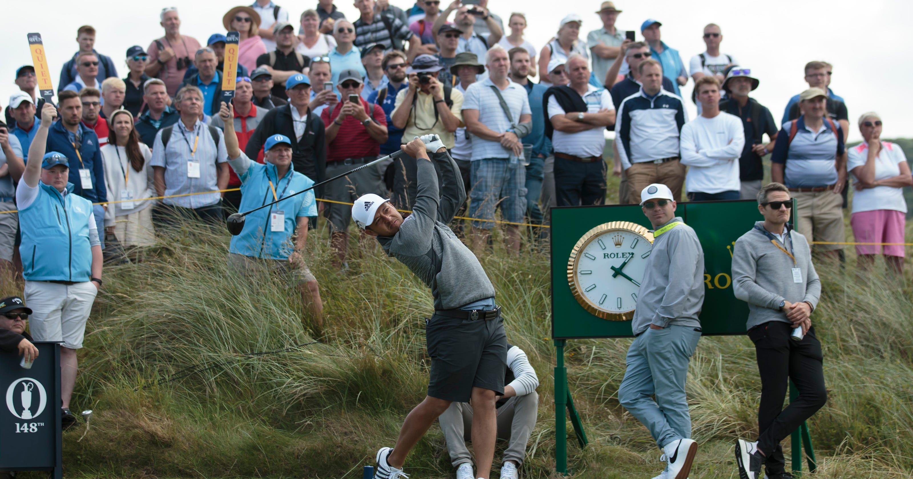 The Latest: Schauffele moving past failed driver test