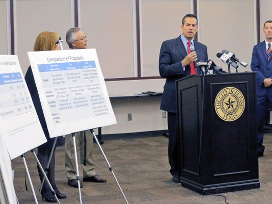 City Manager Tommy Gonzalez along with other city officials released the city's latest offer in its  negotiations with firefighters. City officials say the union's request will cost taxpayers 14.9 million through fiscal year 2018, while the city's offer will cost 7.9 million.