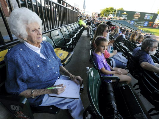 """""""I'm a Revs fan and a Phillies fan, and this season I'm not doing too good,"""" said Norma Jean Kline, 83, a Revs season-ticket holder from Windsor Township, Attendance at Revs games is down so far this season as the team has struggled on the field."""