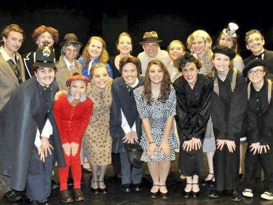 "Cast, pictured above, and crew members from the Susquehanock High School's fall 2014 production of ""39 Steps"" qualified to perform at the Kimball Stage of the International Thespian Conference June 22 to 27 at University of Nebraska."