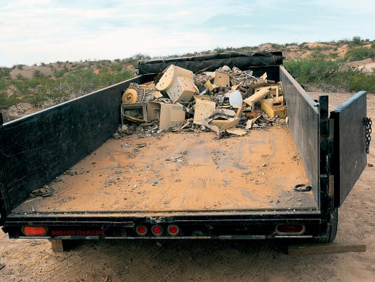 Students, volunteers and other hired workers with the Illegal Dumping Partnership Program pick up about 500 tons of waste throughout the year.