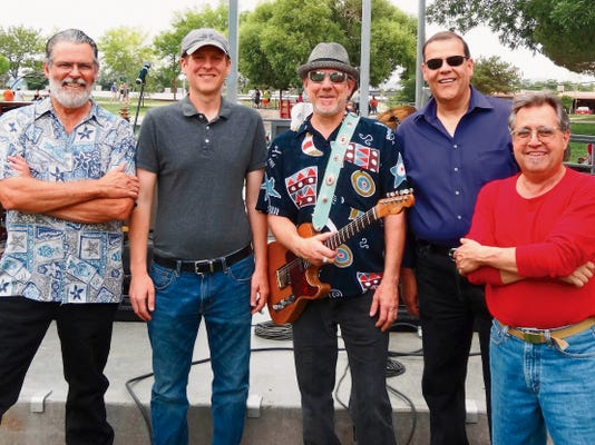 Courtesy photoThe Muddy Hands Blues Band, which uses an eclectic mix of instruments to create unique sounds, will take the stage from 6 to 8 p.m. Saturday during the Red, White & Blues Festival at St. Clair Winery and Bistro, 1720 Avenida de Mesilla.